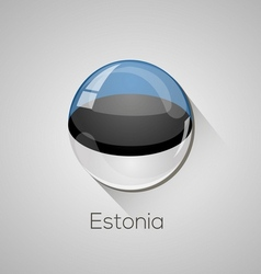 European flags set - Estonia vector image
