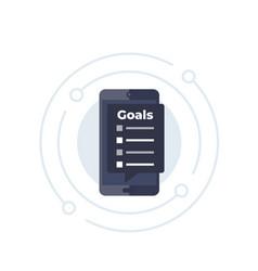 Goal setting app icon vector