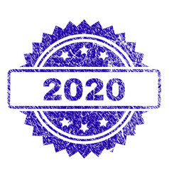 Grunge 2020 stamp seal vector