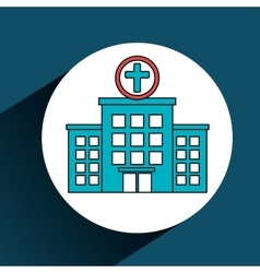 hospital building services medical isolated vector image