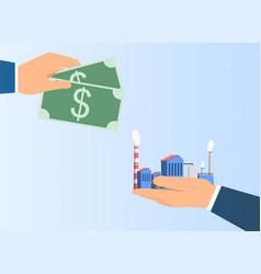 Industry business acquisition dea vector