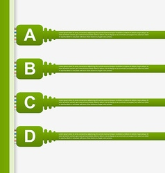 Infographic connection cable design concept vector