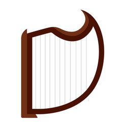 isolated harp musical instrument vector image