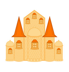 isolated medieval castle building vector image