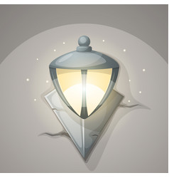 lamp wall cartoon vector image vector image