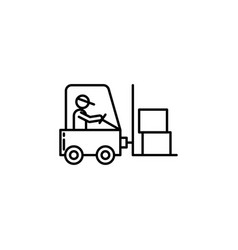 logistics loader signs and symbols can be used vector image