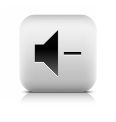 Media player icon with volume decrease sign vector