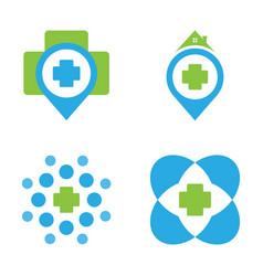 Medical logo concept design vector