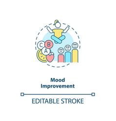 Mood improvement concept icon vector