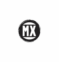 mx logo initial letter monogram with abstract vector image