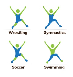 Olympic athletes vector