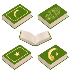 on theme set different types books vector image