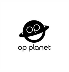 op planet logo vector image