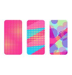 phone case set memphis pattern background vector image