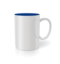 Photorealistic white cup Ready for your design vector