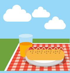 Picnic food image vector