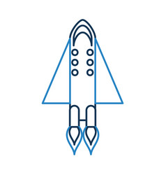 Rocket space isolated icon vector