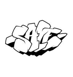 sale the inscription in style graffiti vector image