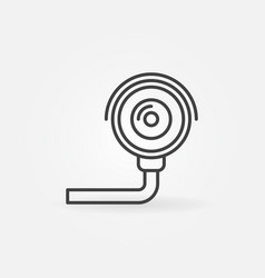 security camera icon - cctv line symbol vector image