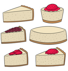 set of cheese cake vector image