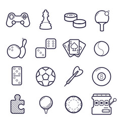 set of games icons vector image
