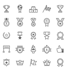 Set of Outline Stroke Award and Trophy Icons vector