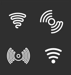 set of wifi black icons vector image