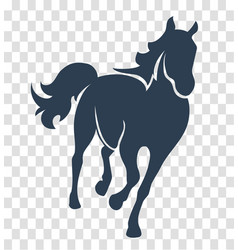 Silhouette horse black vector