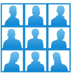Silhouettes avatar vector image
