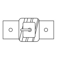 small square buckle icon outline style vector image