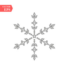 snowflake outline icon linear style sign for vector image