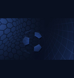 Soccer background in blue colors vector