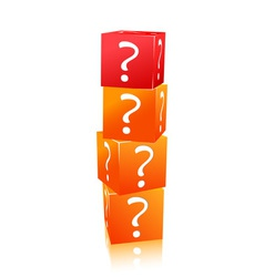 stack of cubes with question mark vector image vector image