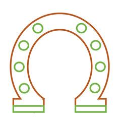 steel horseshoe symbolizes good luck vector image