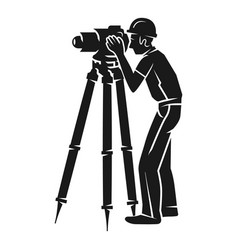 Surveyor icon simple style vector