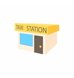 Taxi station icon cartoon style vector image