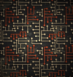 technology grunge pattern vector image