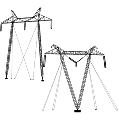 transmission power lines vector image