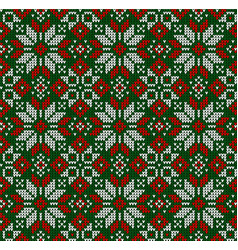 ugly sweater christmas season winter seamless vector image
