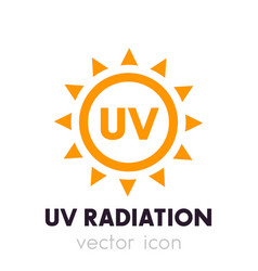 Uv radiation icon vector