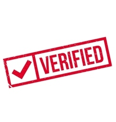 Verified stamp rubber grunge vector image