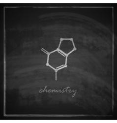 vintage with molecular icon on blackboard vector image
