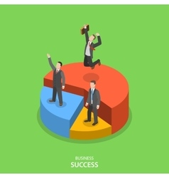 Financial success isometric flat concept vector image vector image