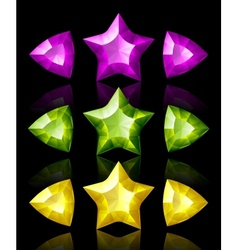 jewelry icons of stars and arrows vector image