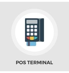 POS terminal flat icon vector image