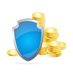 shield Protection of money concept vector image vector image