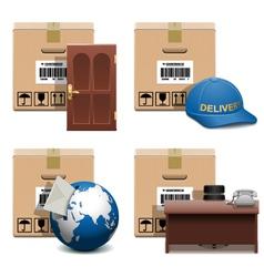 Shipment Icons Set 28 vector image