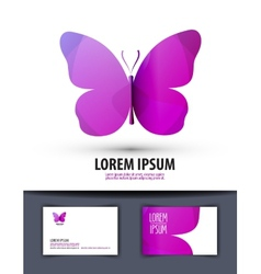 butterfly Logo sign icon emblem template business vector image vector image