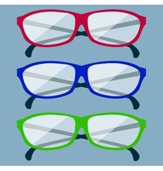 Classic Glasses Icon vector image vector image