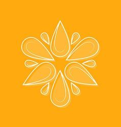 Elegant logotype line design element for logo Fl vector image vector image